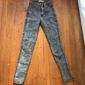 American apparel grey jeans/ jeggings